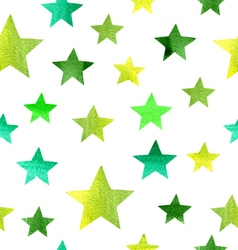 watercolor stars pattern vector image
