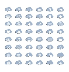 White cloud icons vector
