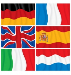 windy flags vector image vector image