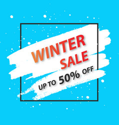 winter sale banner for vector image