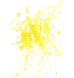 Yellow watercolor stains vector