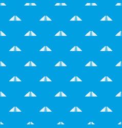 Ziggurat in chichen itza pattern seamless blue vector