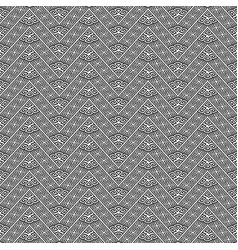 zigzag black and white greek seamless pattern vector image