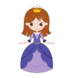 beautiful princess on white vector image vector image