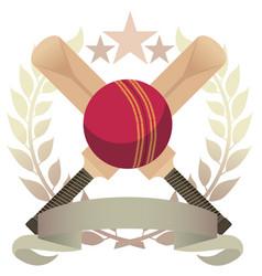 cricket emblem vector image vector image