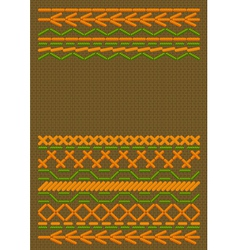 ethnic embroider vector image vector image