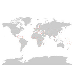 political map of world with capital cities vector image