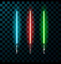 set of realistic light swords vector image