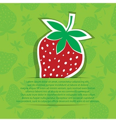 Strawberry in pocket banner on seamless vector image vector image
