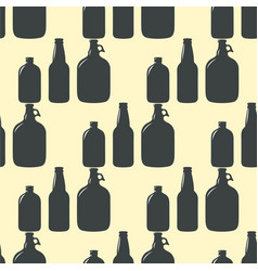 beer bottle pattern seamless background vector image vector image