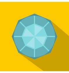 Diamond icon flat style vector image vector image