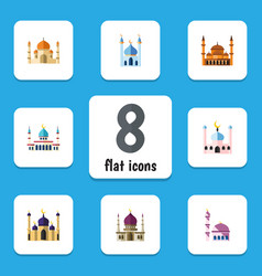 flat icon mosque set of traditional muslim vector image vector image