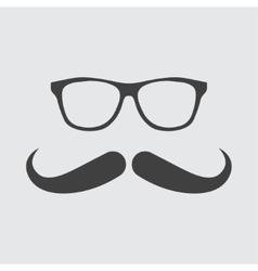 Glasses and mustache icon vector image