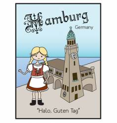 Hamburg Germany vector image