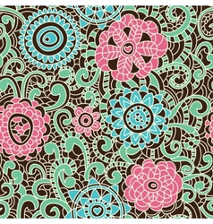 stylish floral pattern vector image vector image