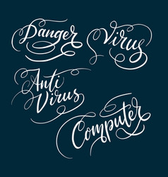 anti virus and danger typography vector image