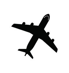 black Airplane vector image