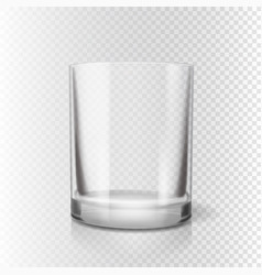 drinking glass for pub transparent realistic vector image vector image