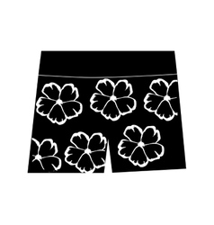 male bathing suit icon image vector image