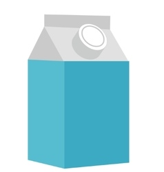 Milk in a box icon flat style Isolated on white vector image vector image