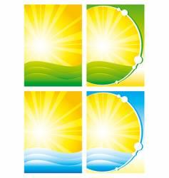 summer backgrounds vector image