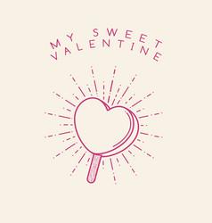 sweet valentine vector image vector image