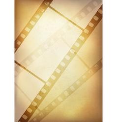 vintage film strip vertical background vector image