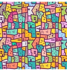 Colorful urban seamless pattern Flat style vector image