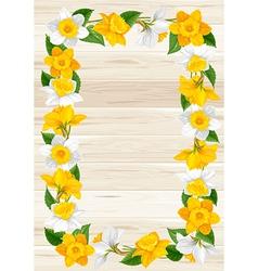 Daffodils frame vector image vector image