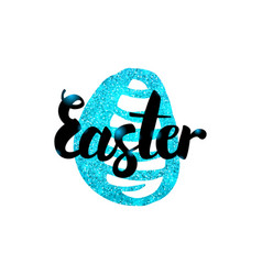 Easter greeting inscription vector