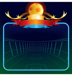 footballs poster vector image