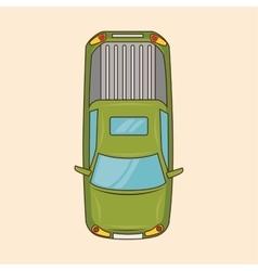 green car transport online service vector image