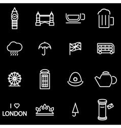 line london icon set vector image