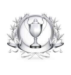 Silver Emblem vector image vector image