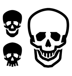 skull logo design template pirate or vector image