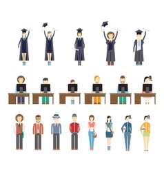 young people and students vector image vector image