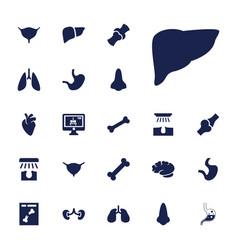 22 anatomy icons vector