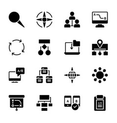 Ab testing glyph icons vector