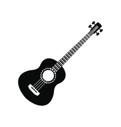 Acoustic guitar icon simple style vector image