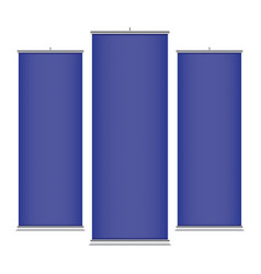 blue vertical banner templates vector image