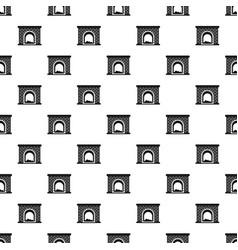 Brick fireplace pattern seamless vector