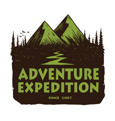 Camping mountain adventure logo emblems template vector