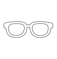 casual glasses cartoon vector image