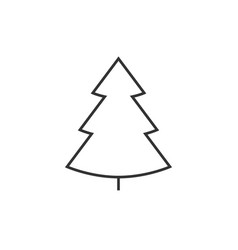 christmass tree line icon vector image