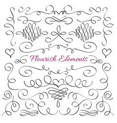 Classic elegant flourish decorative elements vector