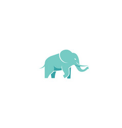 creative blue elephant logo vector image