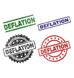 damaged textured deflation stamp seals vector image