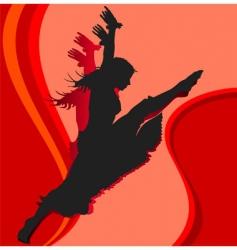 Dancing girl in red vector