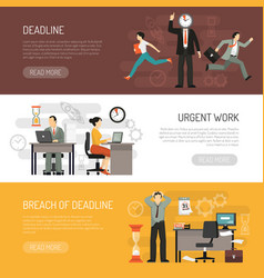 deadlines horizontal banners set vector image