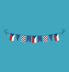 decorations bunting flags for czech republic vector image